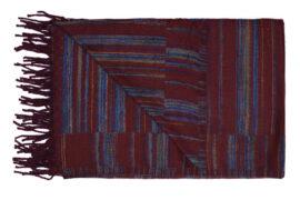 Plaid Bruin met blauwe strepen