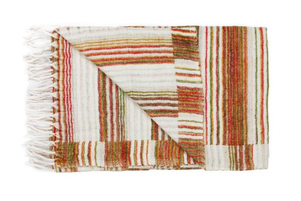 Plaid Wit met Oranje strepen