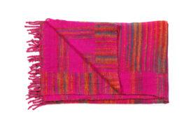 Plaid roze met oranje strepen