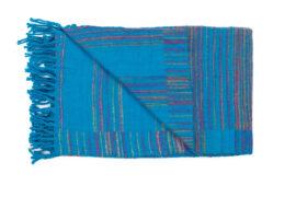 Plaid blauw met strepen